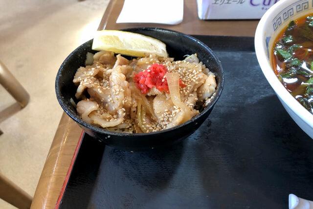 バラ味噌ミニ丼