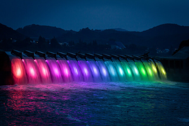 錦秋湖大滝ライトアップとは?