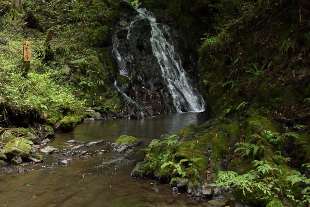【一関】紅葉ヶ滝とは? 松川八景の1つ!黒漆色の岩肌を水が雄麗に流れ落ちる名勝!
