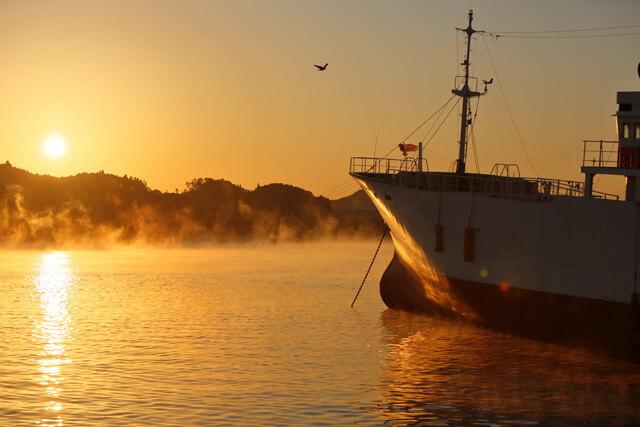 気仙沼の初冬の風物詩!朝の幻想的な景色を楽しもう!